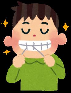 「いらすとやのデンタルフロスをする人のイラスト」歯周病とは?糖尿病、アルツハイマー、ED、敗血症、脳梗塞など、様々な病気の遠因になります!