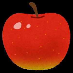 「いらすとやのりんごのイラストです」りんごの健康効果!食べ方次第で虫歯予防にもアンチエイジングにも効果的です!