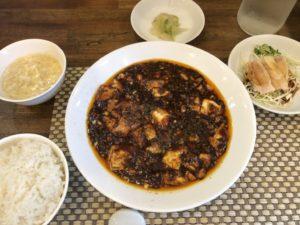 大阪上本町の菜都の麻婆豆腐ランチの写真です。