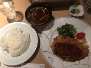 大阪谷町の洋食家 ふじ家のロースカツレツランチ