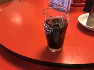 大阪本町のオススメ中華ランチ!食後のアイスコーヒーのサービス。
