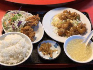 「美祥」のエビマヨ定食850円