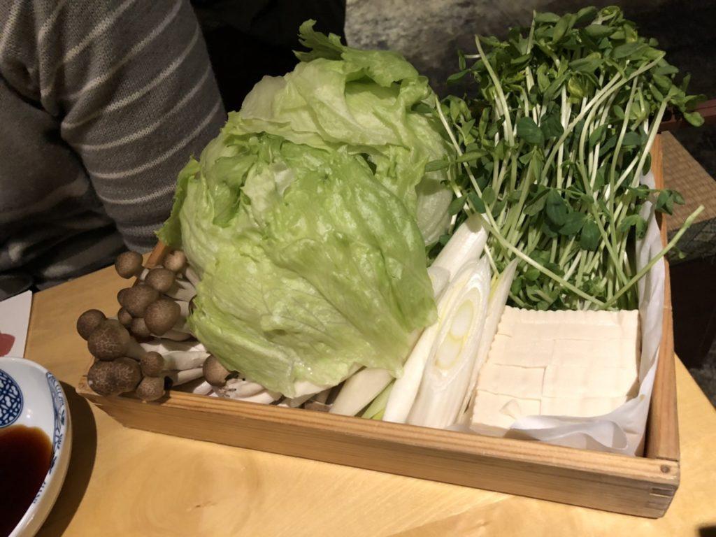 アメリカ村「UROKO」のぶりしゃぶの野菜