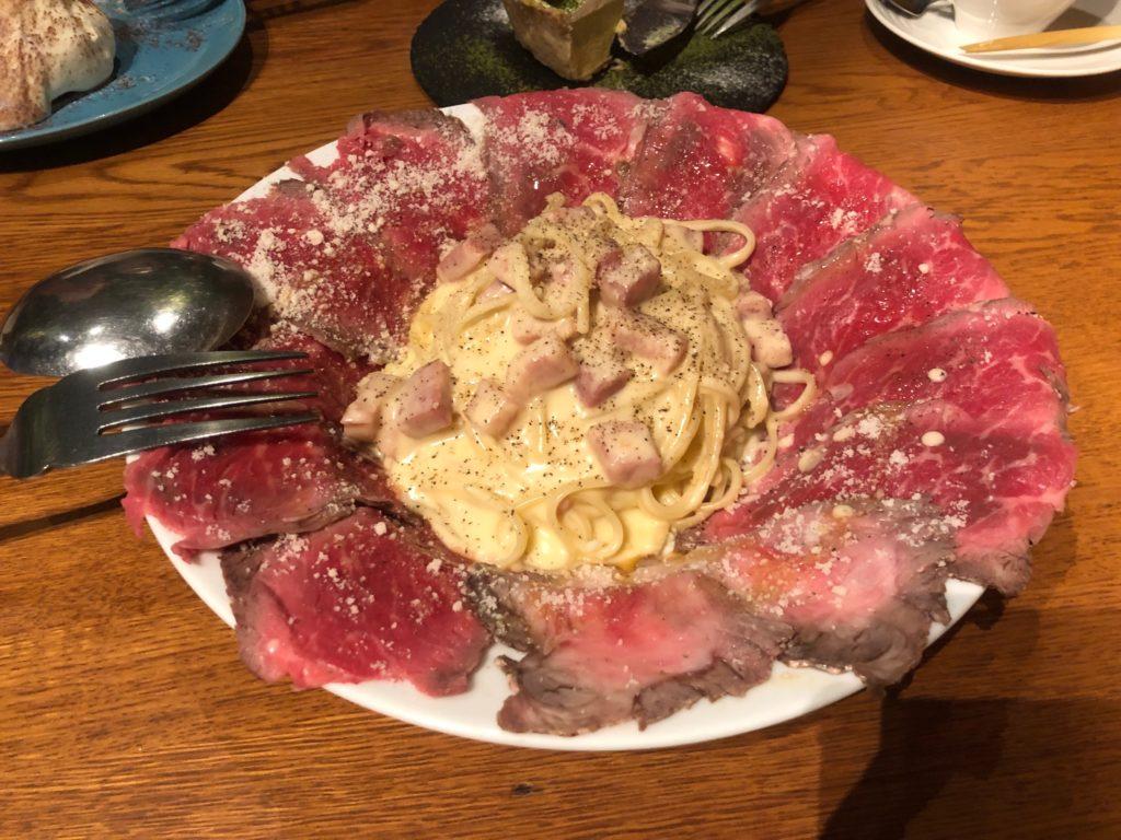 肉ボナーラ