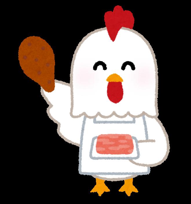 鶏肉のから揚げ屋さんのイラスト