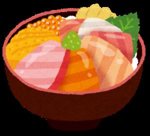海鮮丼はカロリーも低くダイエットにおすすめ。