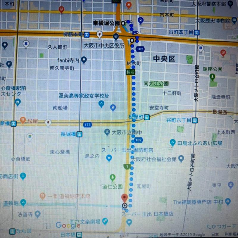 東横堀川の図